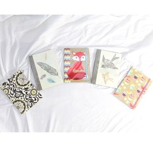 Lot of 5 Small Lined Journal Notebooks